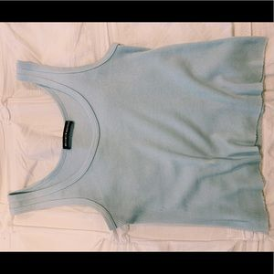 Light blue cropped Brandy Melville tank top